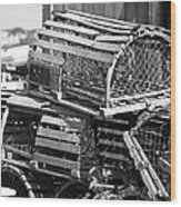Nantucket Lobster Traps Wood Print