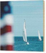 Nantucket Sailing Wood Print