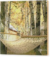 Nap Time On A Fall Day Wood Print