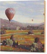 Napa Balloon Autumn Ride Wood Print