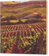 Napa Carneros Summer Evening Light Wood Print