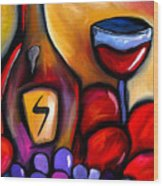 Napa Mix - Abstract Wine Art By Fidostudio Wood Print