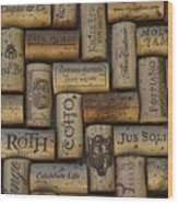 Napa Pinot Noir Wood Print