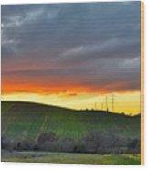 Napa Sunrise Wood Print