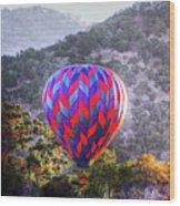 Napa Valley Morning Balloon Wood Print