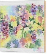Napa Valley Morning Wood Print