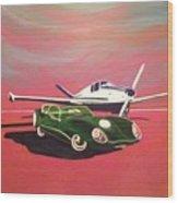 Napa Valley Lotus And Bonanza Beechcraft Wood Print