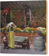 Napa Wine Cellar In Spring Wood Print
