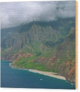 Napali Coast - Kauai Wood Print