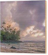 Napali Sunset Wood Print