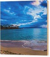 Napili Bay Sunset Panorama Wood Print