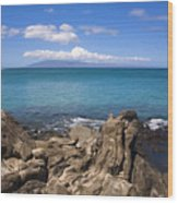 Napili Bay With Lanai Wood Print