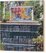 Naples Botanical Waterfall - Refreshing Garden Wood Print