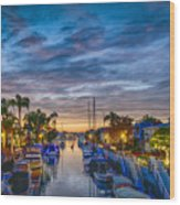 Naples Canal Christmas 6 Wood Print