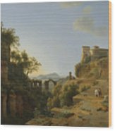 Naples Gulf With The Backdrop Of The Island Of Ischia  Wood Print