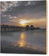 Naples Pier At Sunset - Florida, United States - Travel Photography Wood Print