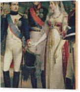 Napoleon Bonaparte Receiving Queen Louisa Of Prussia Wood Print