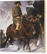 Napoleon Crossing The Alps Wood Print