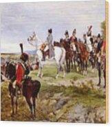 Napoleon Watching The Battle Of Friedland Wood Print