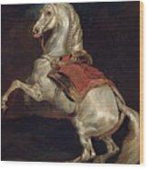 Napoleon's Stallion Tamerlan Wood Print