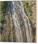 Narada Falls Rainbow Wood Print