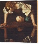 Narcissus Wood Print by Pg Reproductions