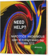 Narcotics Anonymous Poster Wood Print