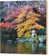 Naritasan Temple Garden Wood Print