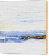 Narragansett Rocks Wood Print