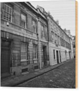 narrow cobbled old orchard street Bath England UK Wood Print