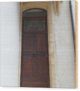 Narrow Door Wood Print
