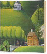 Narrow Foothills Wood Print