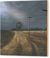 Narrow Is The Road Wood Print