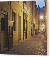 Narrow Street In Old Town Of Wroclaw In Poland Wood Print