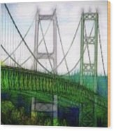 Narrows Bridge Abstract Wood Print
