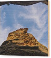 Narrows Sky Zion National Park Utah Wood Print