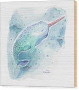 Narwhal - Unicorn Of The Sea Wood Print