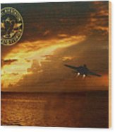 Nas Key West Sunset Wood Print