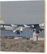 Nasa Boeing Nb-52b Stratofortress With Hyper X Wood Print by Brian Lockett