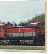 Nasa Space Shuttle Railroad Wood Print