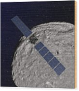 Nasas Dawn Spacecraft Orbiting Wood Print