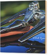 Nash Ambassador Hood Ornament  Wood Print
