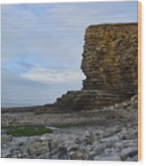 Nash Point In Wales Wood Print