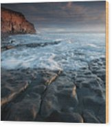 Nash Point South Wales Wood Print