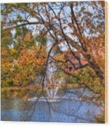 Nashua River Water Fountain - Nashua Nh Wood Print