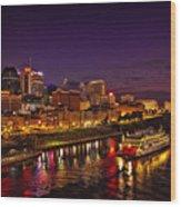 Nashville And General Jackson Wood Print