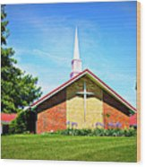 Nashville Baptist Church Wood Print