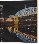 Nashville Bridge Wood Print