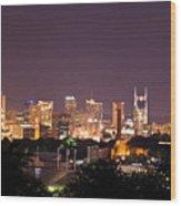 Nashville Cityscape 3 Wood Print