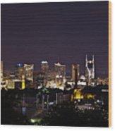 Nashville Cityscape 4 Wood Print